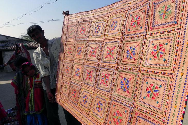 Gujarat_Nakhatrana_LeatherWallHanging