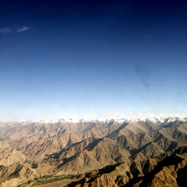 Leh - Himalayas from plane 2