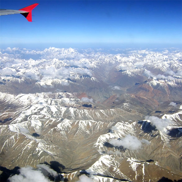 Leh - Himalayas from plane