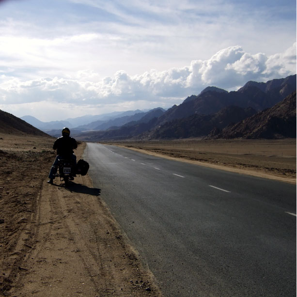 On the Leh-Srinagar highway in Ladakh, India