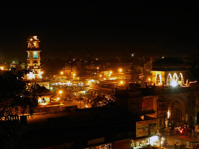Jodhpur - Sardar market at night