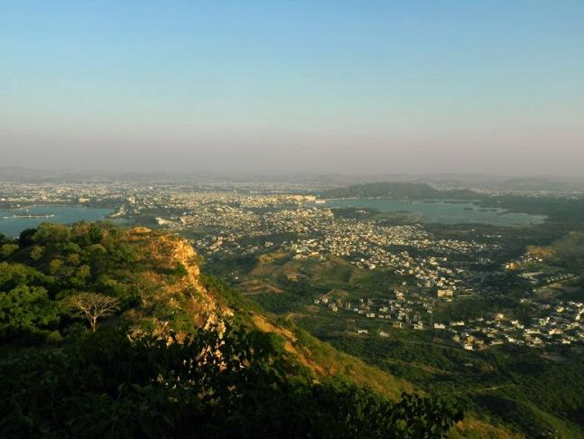 Udaipur - Sajjangarh view