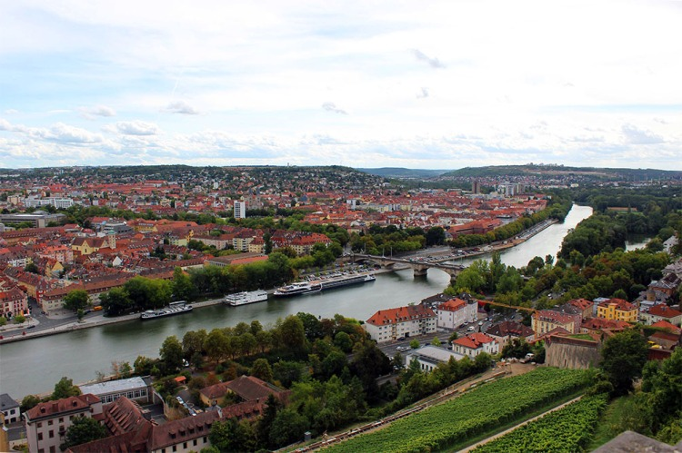 Wuerzburg - View from castle - town 6