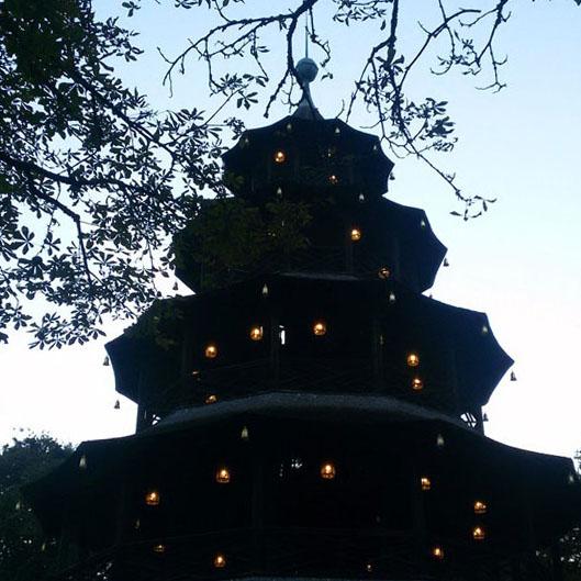 Munich - Chinese tower silhouette