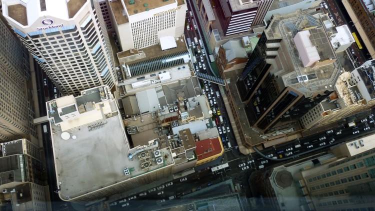 Sydney - Tower traight down