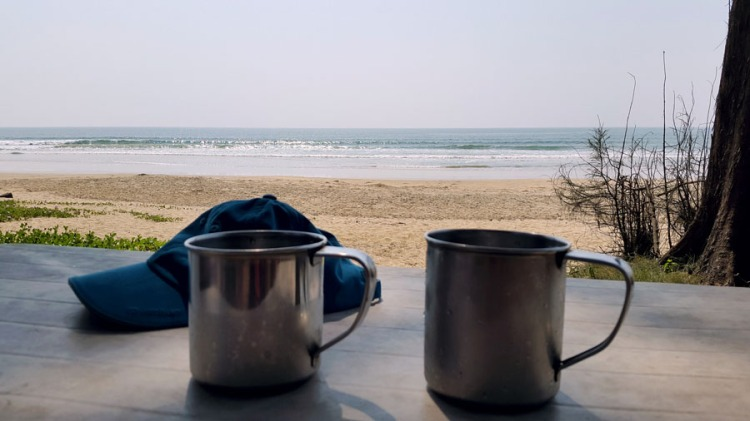 Agonda - Talpona beach Steel mugs