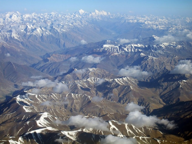Ladakh - Mountains from plane