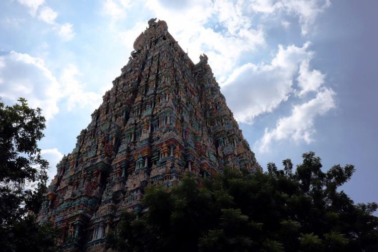 Madurai - North gopuram silhouette